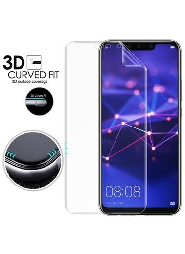 Microsonic Huawei Mate 20 Lite Ön + Arka Kavisler Dahil Tam Ekran Kaplayıcı Film Renksiz